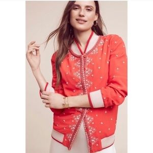 Anthro Conditions Apply Embroidered Jacket